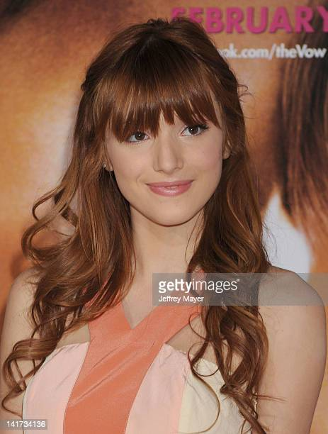 Bella Thorne arrives at The Vow Los Angeles Premiere at Grauman's Chinese Theatre on February 6 2012 in Hollywood California