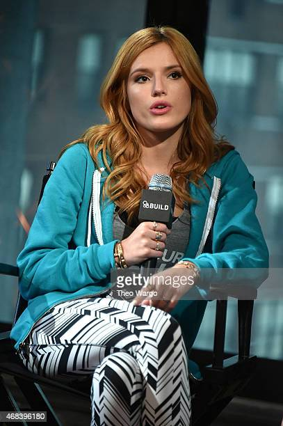 Bella Thorne attends AOL BUILD Speaker Series Bella Thorne Discusses Find Your Park Campaign at AOL Studios In New York on April 2 2015 in New York...
