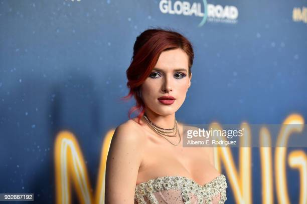 Bella Thorne attends Global Road Entertainment's world premiere of 'Midnight Sun' at ArcLight Hollywood on March 15 2018 in Hollywood California
