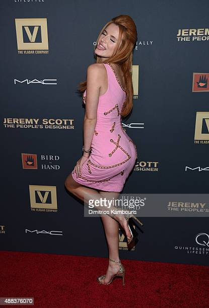 Bella Thorne attends Jeremy Scott The People's Designer New York Premiere at The Paris Theatre on September 15 2015 in New York City