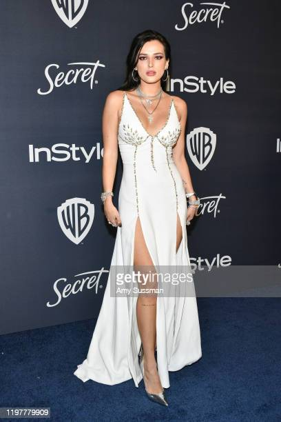 Bella Thorne attends the 21st Annual Warner Bros. And InStyle Golden Globe After Party at The Beverly Hilton Hotel on January 05, 2020 in Beverly...