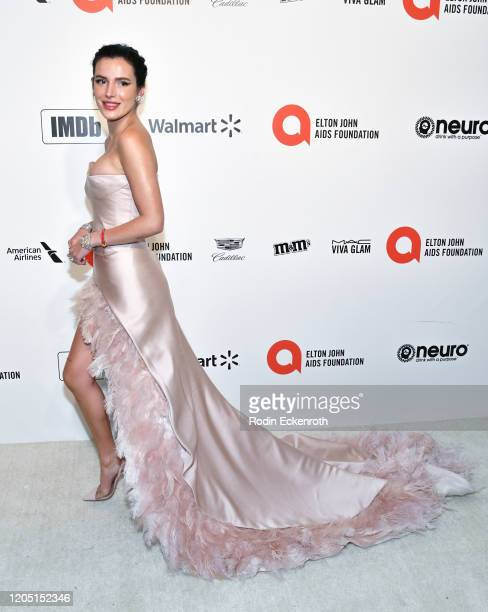 Bella Thorne attends the 28th Annual Elton John AIDS Foundation Academy Awards Viewing Party Sponsored By IMDb And Neuro Drinks on February 09, 2020...