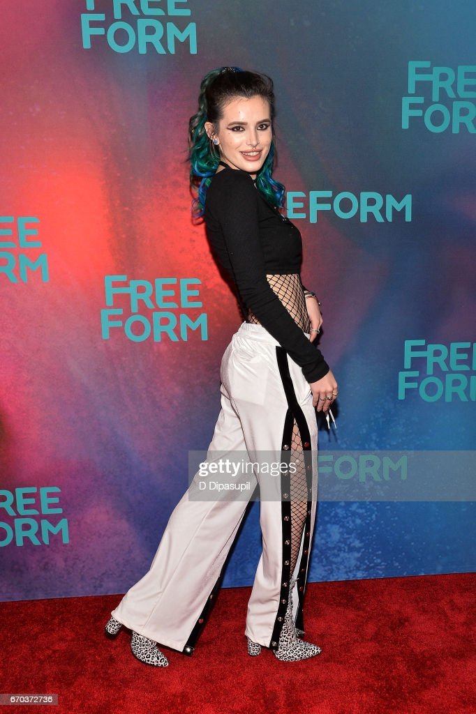 Bella Thorne attends the Freeform 2017 Upfront at Hudson Mercantile on April 19, 2017 in New York City.