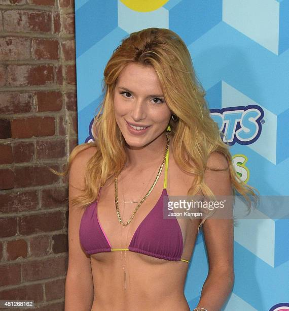 Bella Thorne attends the Just Jared's Summer Bash Pool Party 2015 on July 18 2015 in Los Angeles California