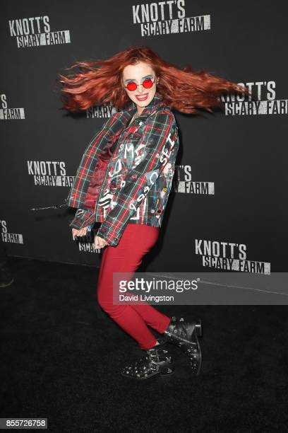 Bella Thorne attends the Knott's Scary Farm and Instagram's Celebrity Night at Knott's Berry Farm on September 29 2017 in Buena Park California