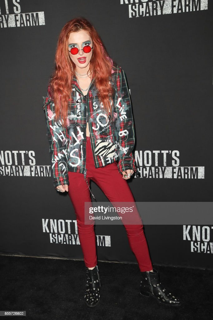 Bella Thorne attends the Knott's Scary Farm and Instagram's Celebrity Night at Knott's Berry Farm on September 29, 2017 in Buena Park, California.