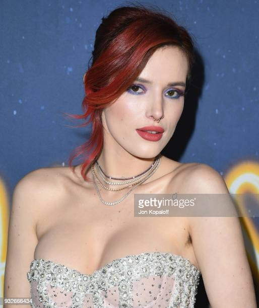 Bella Thorne attends the Los Angeles Premiere Midnight Sun at ArcLight Hollywood on March 15 2018 in Hollywood California