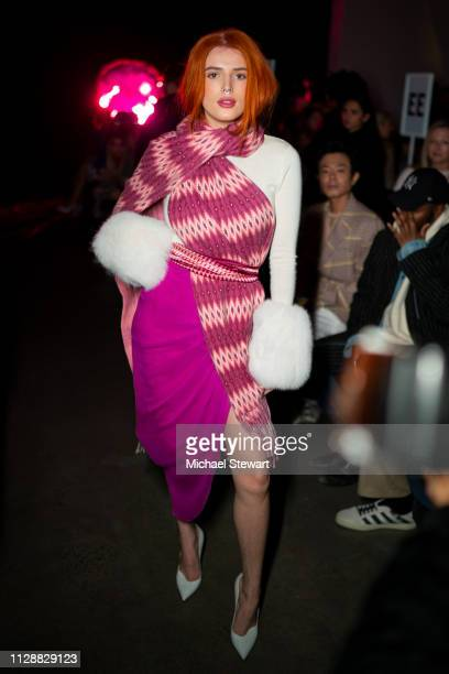 Bella Thorne attends the Prabal Gurung front row during New York Fashion Week The Shows at Gallery I at Spring Studios on February 10 2019 in New...