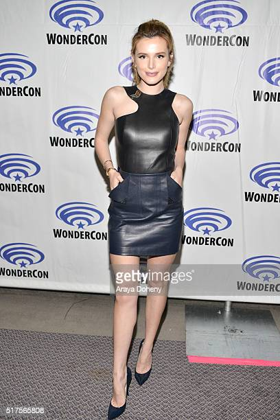 Bella Thorne attends the Ratchet and Clank panel at WonderCon 2016 at Los Angeles Convention Center at WonderCon 2016 on March 25 2016 in Los Angeles...