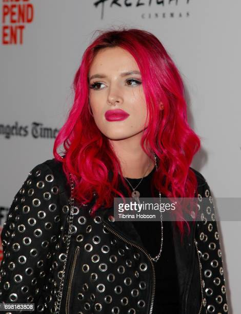 Bella Thorne attends the screening of 'You Get Me' during the 2017 Los Angeles Film Festival at ArcLight Santa Monica on June 19 2017 in Santa Monica...