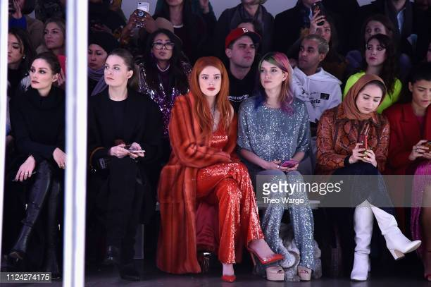 Bella Thorne Bella Thorne and Dani Thorne attend the Sally LaPointe front row during New York Fashion Week The Shows at Gallery I at Spring Studios...