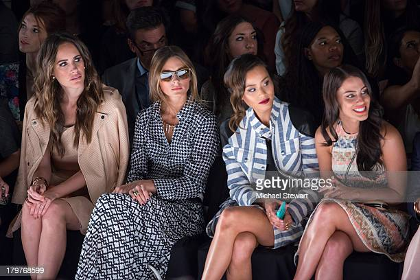 Bella Thorne Dani Thorne Louise Roe Olivia Palermo and Jessica Lowndes attend the Rebecca Minkoff show during Spring 2014 MercedesBenz Fashion Week...