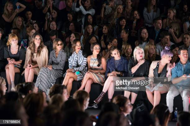 Bella Thorne Dani Thorne Louise Roe Olivia Palermo Jamie Chung Jessica Lowndes Zosia Mamet guest and Kelly Osborne attend the Rebecca Minkoff show...