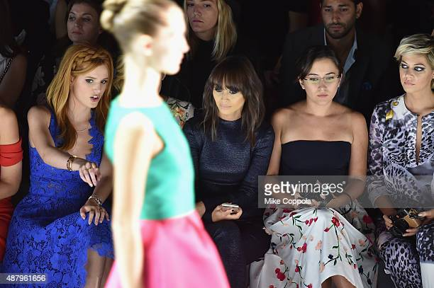 Bella Thorne Gillian Jacobs Cara Santana and Analeigh Tipton attend the Monique Lhuillier Spring 2016 during New York Fashion Week The Shows at The...