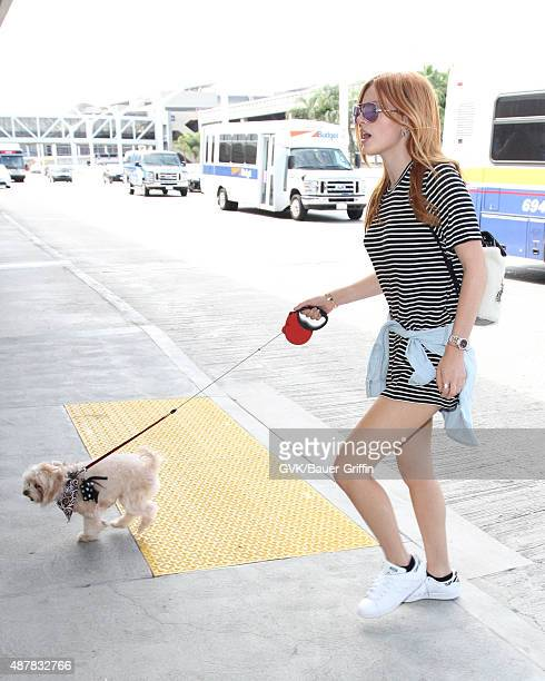 Bella Thorne is seen at LAX on September 11 2015 in Los Angeles California
