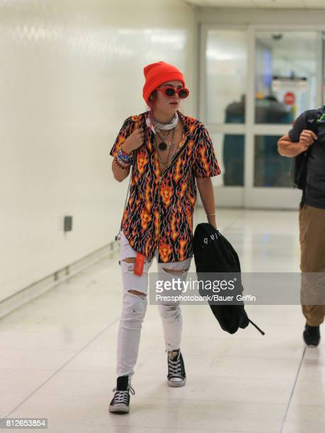 Bella Thorne is seen at Los Angeles International Airport on July 11 2017 in Los Angeles California