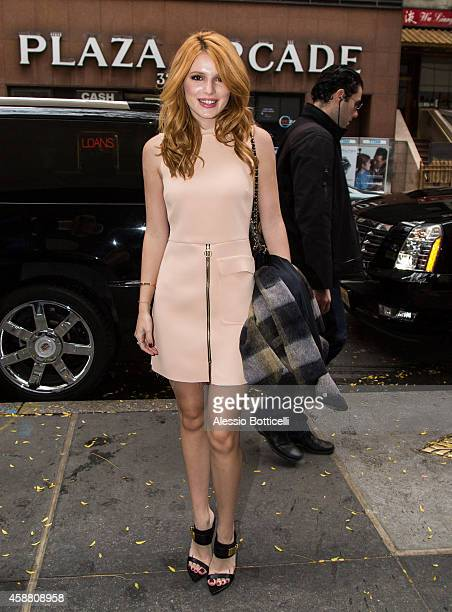 Bella Thorne is seen leaving the 'Today Show' on November 11 2014 in New York City