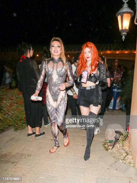 Bella Thorne is seen on April 14 2019 in Indio California