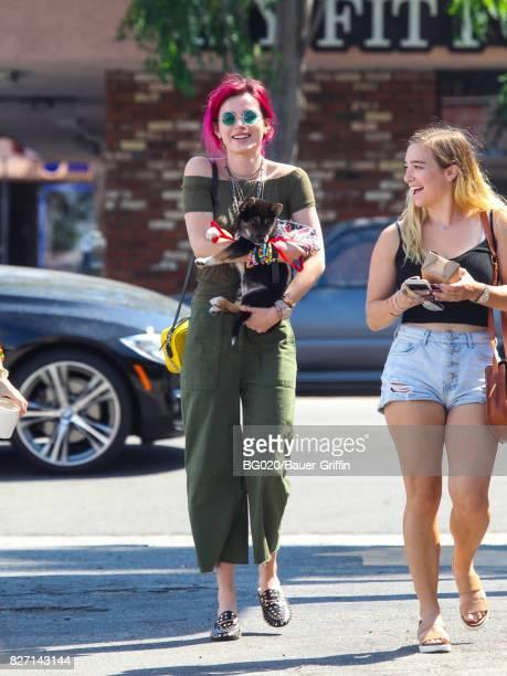 Bella Thorne is seen on August 06 2017 in Los Angeles California