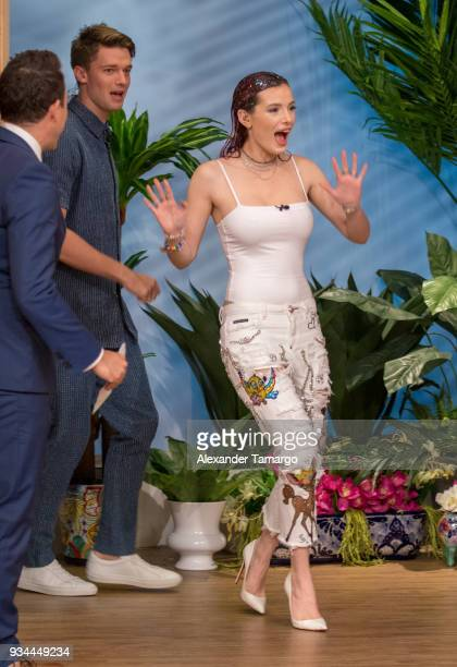Bella Thorne is seen on the set of Despierta America at Univision Studios to promote the film Midnight Sun on March 19 2018 in Miami Florida
