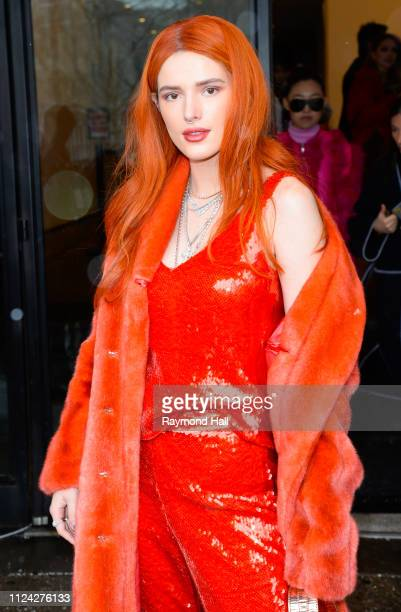 Bella Thorne is seen outside a fashion show on February 12 2019 in New York City