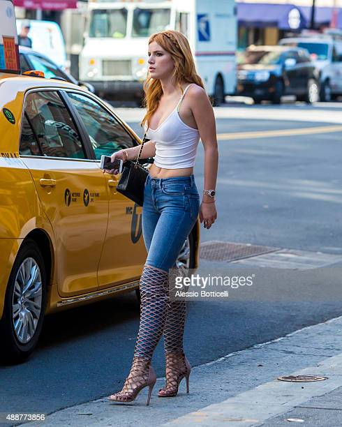 Bella Thorne is seen running errands on September 17 2015 in New York City