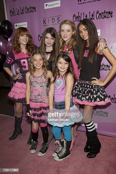 Bella Thorne, Jadin Gould, Katherine Newton, Pia Mia Perez, and guests pose at Kids In Distressed Situations Benefit Hosted By Bella Thorne And...