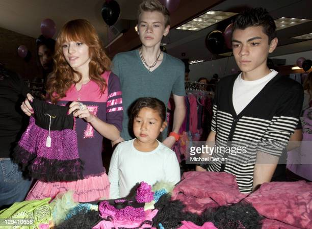 Bella Thorne, Kenton Duty, and Adam Irigoyen at the Kids In Distressed Situations Benefit Hosted By Bella Thorne And OohLaLa Couture on February 12,...
