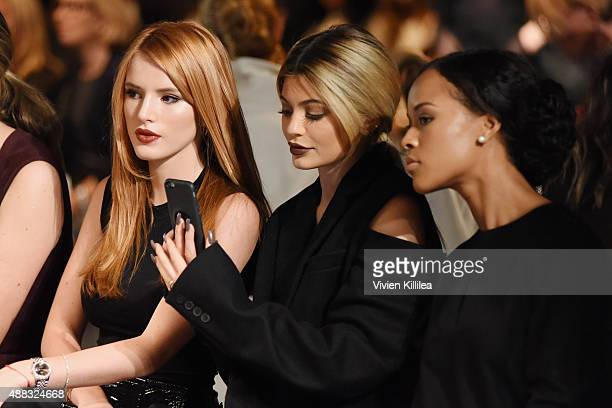 Bella Thorne Kylie Jenner and Serayah McNeill attend Vera Wang Spring 2016 during New York Fashion Week at Cedar Lake on September 15 2015 in New...