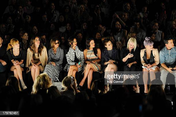 Bella Thorne, Louise Roe, Olivia Palermo, Jamie Chung, Jessica Lowndes, Zosia Mamet, DJ Becka Diamond and Kelly Osbourne attend the Rebecca Minkoff...