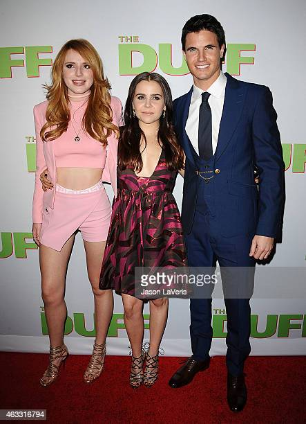 Bella Thorne Mae Whitman and Robbie Amell attend the premiere of 'The Duff' at TCL Chinese 6 Theatres on February 12 2015 in Hollywood California