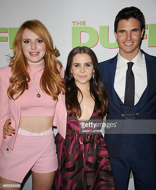Bella Thorne Mae Whitman and Robbie Amell attend the premiere of The Duff at TCL Chinese 6 Theatres on February 12 2015 in Hollywood California