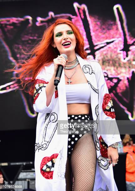 Bella Thorne performs onstage during Day 2 of Billboard Hot 100 Festival 2019 at Northwell Health at Jones Beach Theater on August 19 2019 in Wantagh...