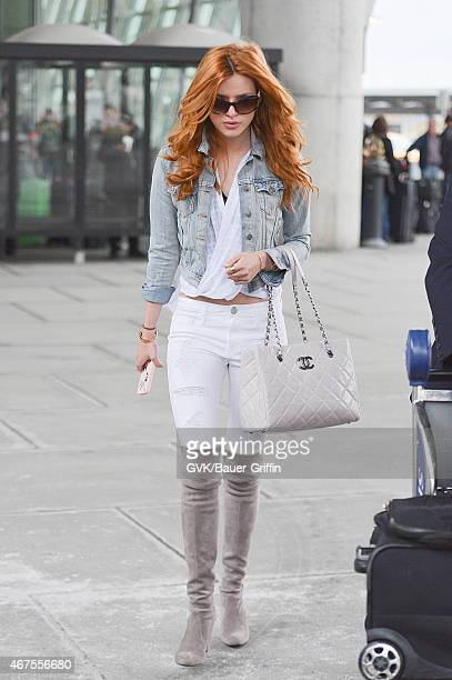Bella Thorne seen at JFK Airport on March 25 2015 in New York City