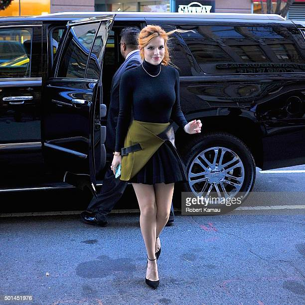 Bella Thorne seen out on December 15 2015 in New York City