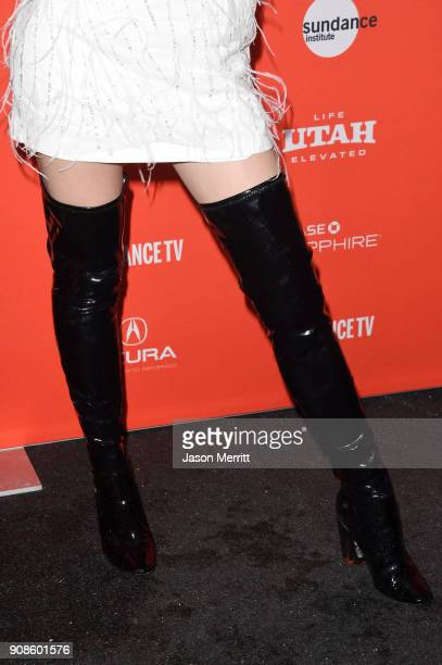 Bella Thorne shoe detail attends the 'Assassination Nation' Premiere during the 2018 Sundance Film Festival at Park City Library on January 21 2018...