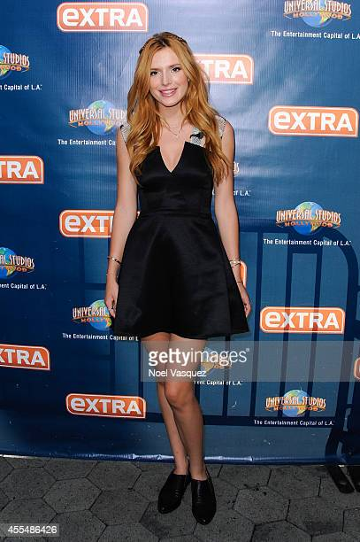 Bella Thorne visits Extra at Universal Studios Hollywood on September 15 2014 in Universal City California