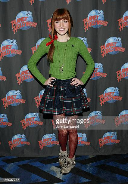 Bella Thorne visits Planet Hollywood Times Square on December 17 2011 in New York City