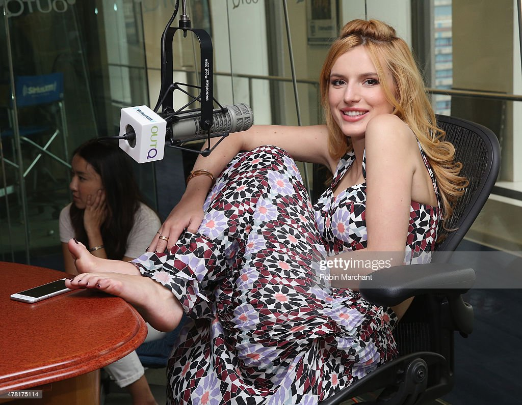 Bella Thorne visits 'The Morning Jolt with Larry Flick' on SiriusXM OutQ at SiriusXM Studios on June 23, 2015 in New York City.