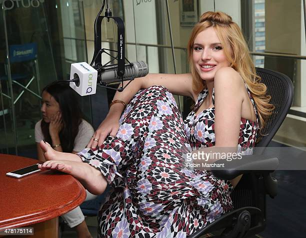 Bella Thorne visits 'The Morning Jolt with Larry Flick' on SiriusXM OutQ at SiriusXM Studios on June 23 2015 in New York City