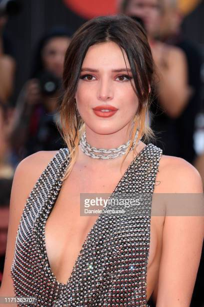 "Bella Thorne walks the red carpet ahead of the ""Joker"" screening during the 76th Venice Film Festival at Sala Grande on August 31, 2019 in Venice,..."