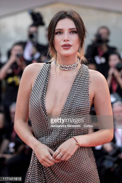 Bella Thorne walks the red carpet ahead of the Joker screening during the 76th Venice Film Festival at Sala Grande on August 31 2019 in Venice Italy