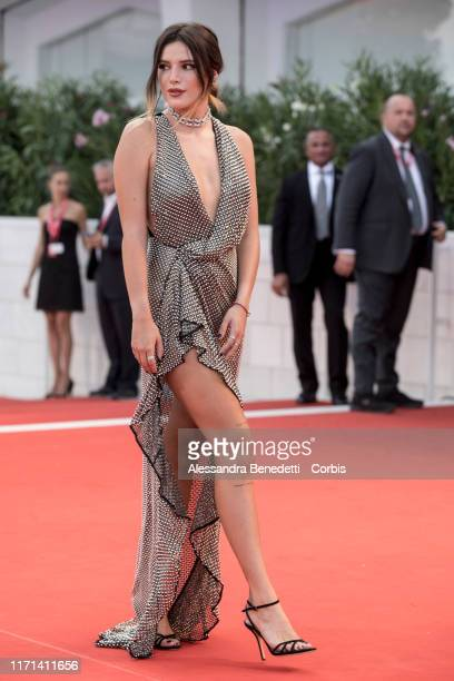 """Bella Thorne walks the red carpet ahead of the """"Joker"""" screening during the 76th Venice Film Festival at Sala Grande on August 31, 2019 in Venice,..."""