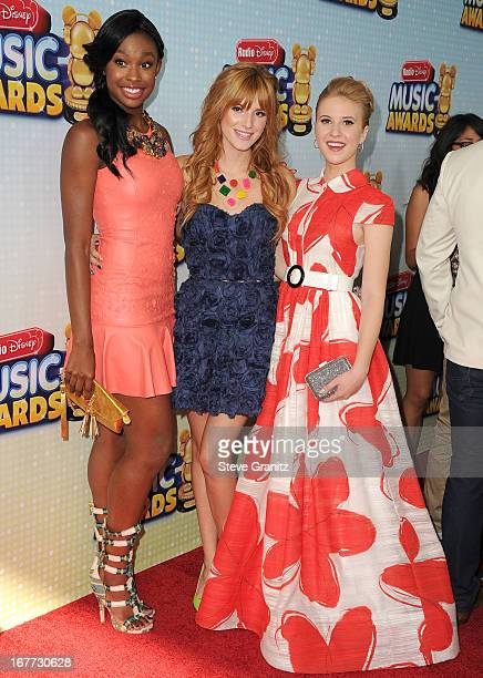 Bella Thorne,Caroline Sunshine and Coco Jone arrives at the 2013 Radio Disney Music Awards at Nokia Theatre L.A. Live on April 27, 2013 in Los...