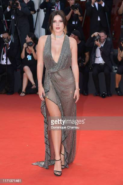 "Bella Thornewalks the red carpet ahead of the ""Joker"" screening during the 76th Venice Film Festival at Sala Grande on August 31, 2019 in Venice,..."