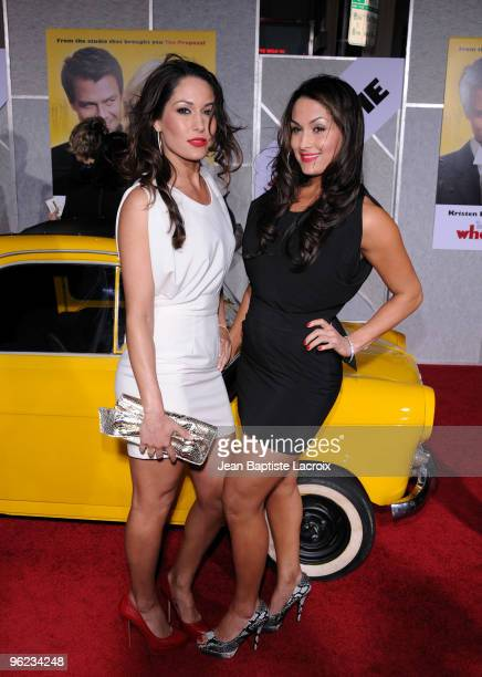 Bella Twins attend the When In Rome Los Angeles Premiere at the El Capitan Theatre on January 27 2010 in Hollywood California