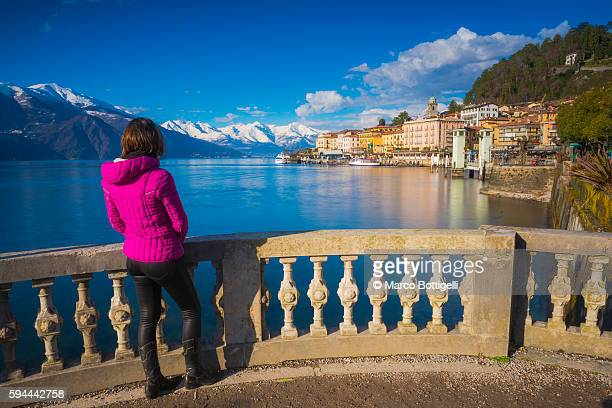 bellagio, lake como, lombardy, italy. - lake como stock pictures, royalty-free photos & images
