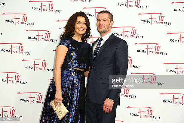 Bellamy Young and Charlie Weber attend the 'Shondaland' red carpet during the Roma Fiction Fest 2016 at The Space Moderno on December 10 2016 in Rome...