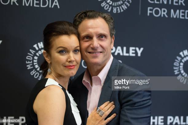Bellamy Young and Tony Goldwyn attend The Ultimate Scandal Watch Party at The Paley Center for Media on May 18 2017 in New York City