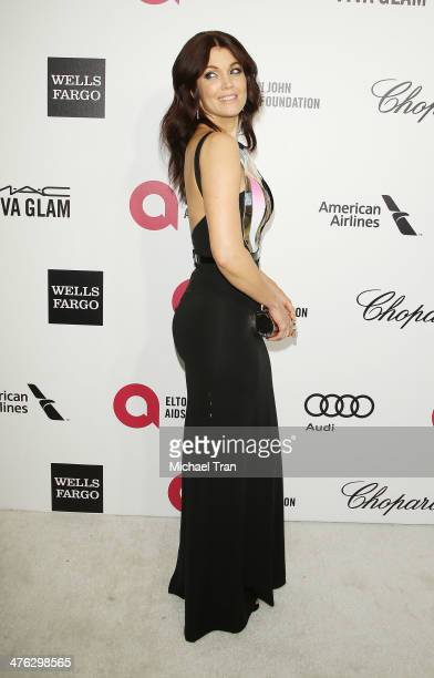 Bellamy Young arrives at the 22nd Annual Elton John AIDS Foundation's Oscar viewing party held on March 2 2014 in West Hollywood California